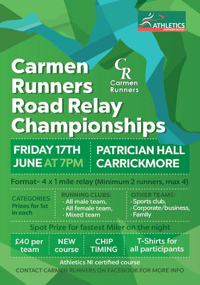 Carmen Runners Relay Race Flyer