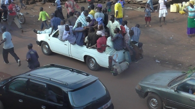 """They see me rollin"".. Hitchin a ride Uganda style"