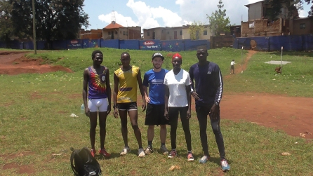 Training with Fame Athletes- Including Agnes and Moses (1st and 2nd from right)