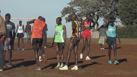 Former KAF athletes before the recent 21km race in Kapchorwa